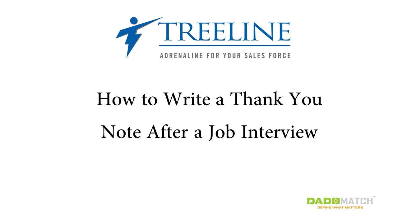 How to write a thank you note after a job interview youtube how to write a thank you note after a job interview aljukfo Choice Image