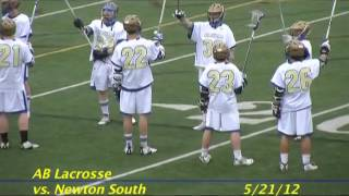 Acton Boxborough varsity Lacrosse vs Newton South May 2012