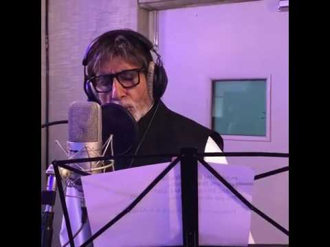 Amitabh Bacchan recording Namami Brahmaputra theme song