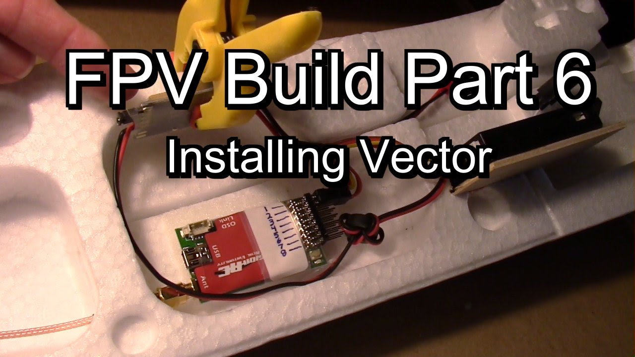 installing vector osd fc into twin star how to place components and route wires fpv build part 6 [ 1280 x 720 Pixel ]
