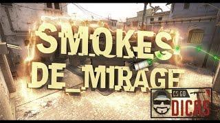 Smokes bomb b da mirage   Canal CSGO Dicas