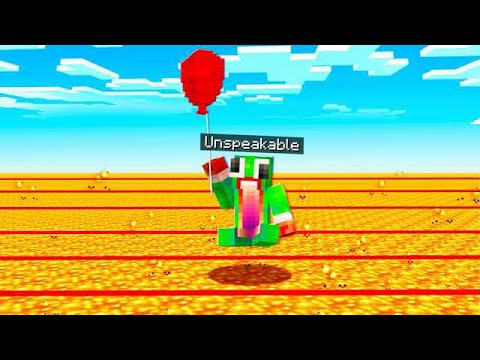 USING A BALLOON TO SURVIVE IN MINECRAFT! thumbnail