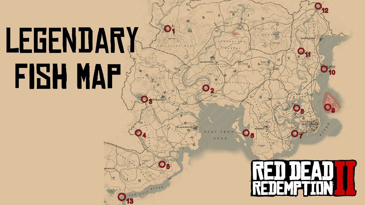 Red dead redemption 2 legendary fish