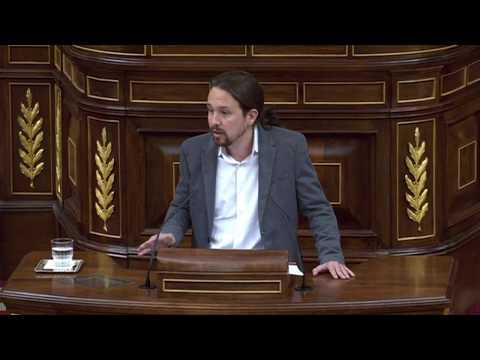PABLO IGLESIAS (Podemos) - Discurso pleno INDEPENDENCIA de CATALUÑA (11/10/2017)