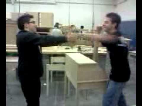 Punch through wood