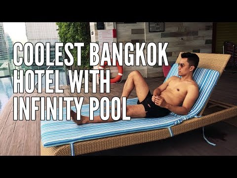 One of the coolest hotels in Bangkok, with infinity pool weee!