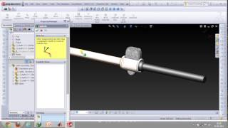 Cotter joint and exploded assembly in Solidworks