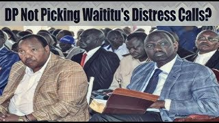 DP Ruto US Trip Cancelled By State House As Waititu Is In Korokoroni