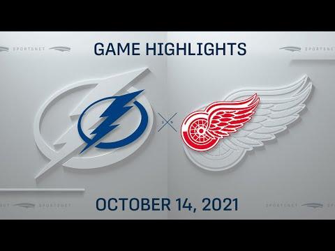 NHL Highlights | Lightning vs. Red Wings - Oct. 14, 2021