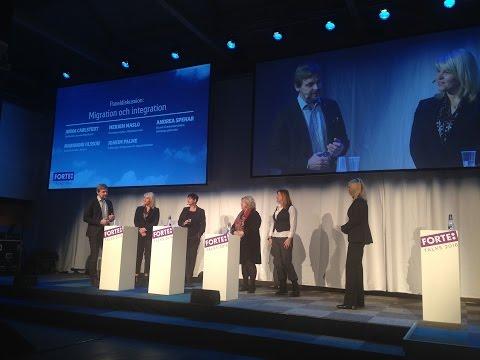 Paneldiskussion om migration och integration - Forte Talks 2016