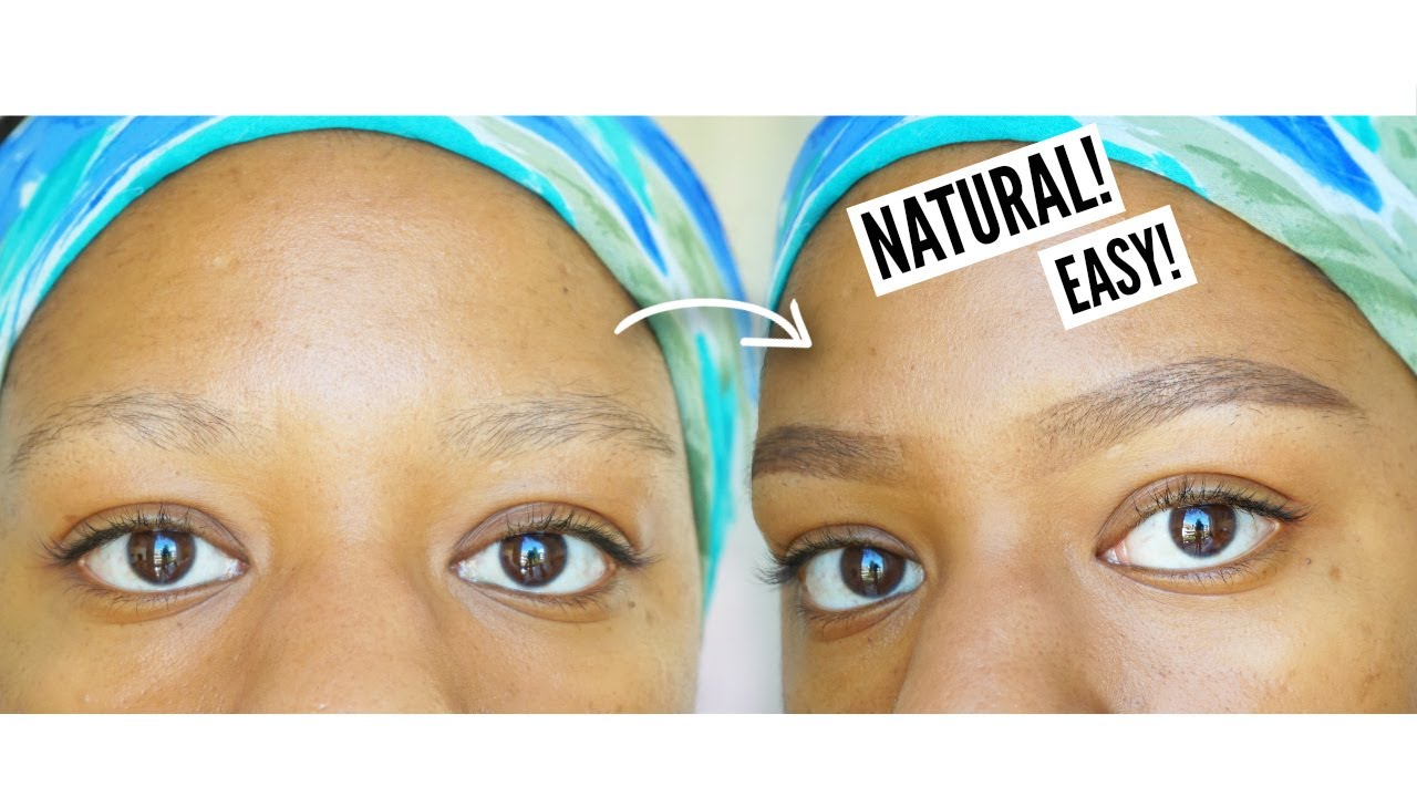 HOW TO FILL IN THIN EYEBROWS | My Natural Eyebrow Routine ...