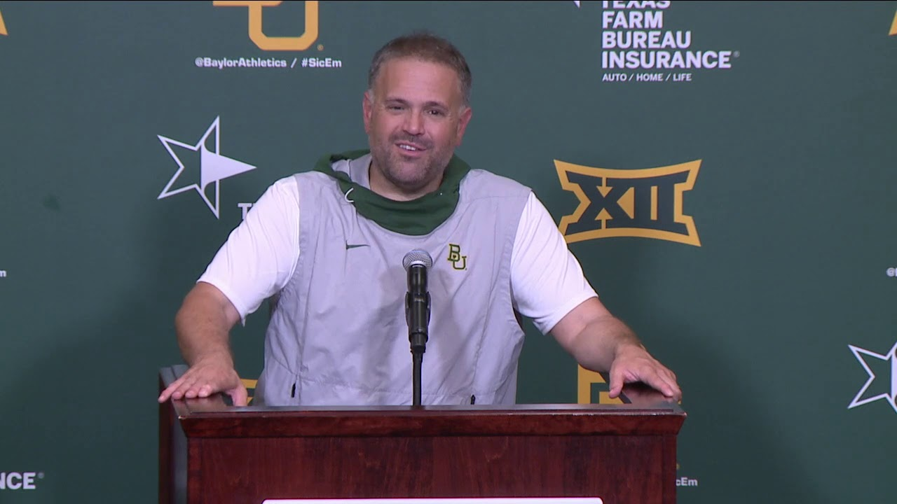 Baylor Football Coach Rhule Postgame Press Conference Vs Stephen F Austin