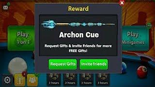 سارعو الحصول على عصا الارشون مجانا في لعبة 8 بال بول //  Mod Free Cue Archon 8ball pool
