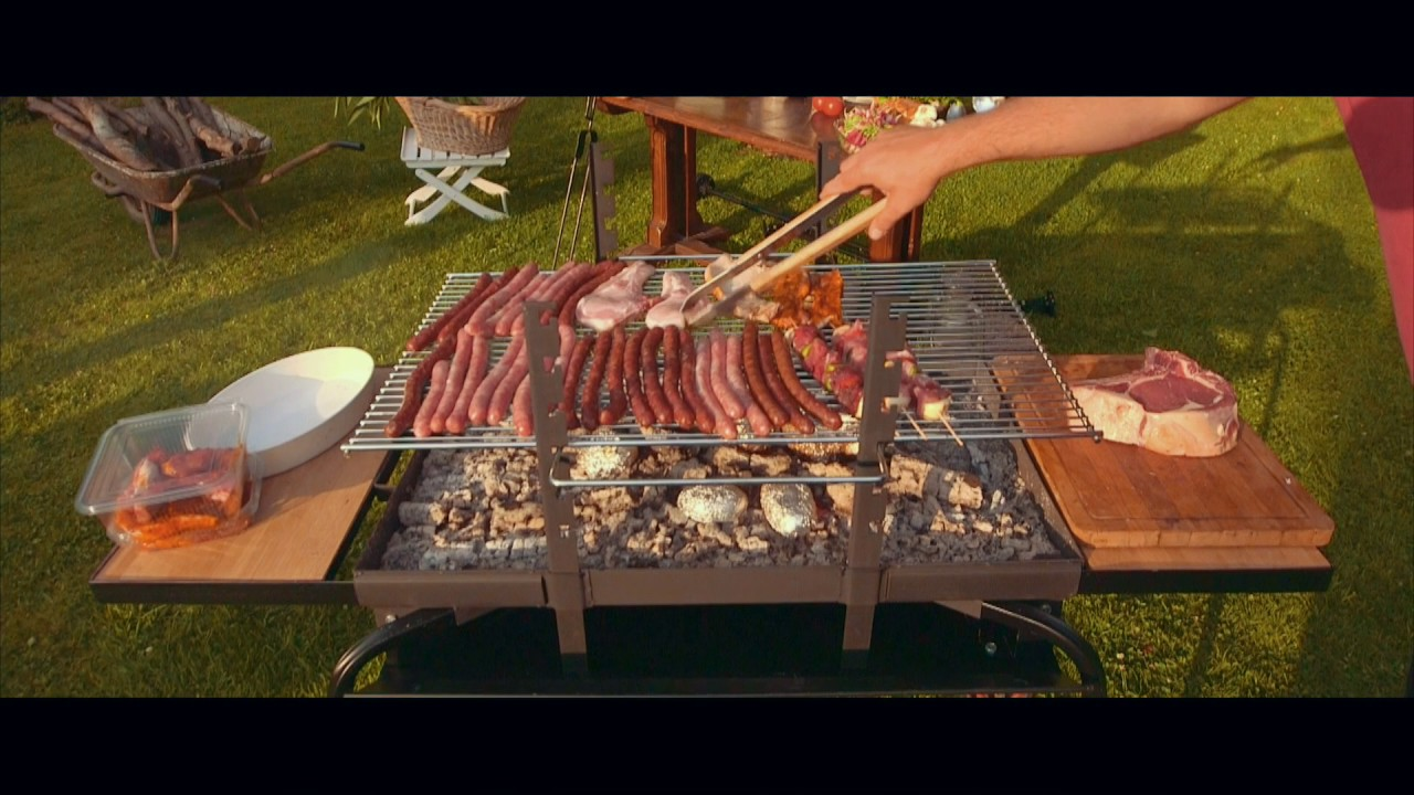 oogarden - barbecue brasero le feu roulant - youtube