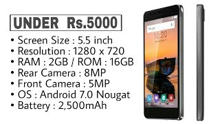 Best 4G MobilePhones Under Rs 5000 in India (2017)