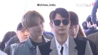 SHINee @ Incheon Airport heading to Dubai for SMTown World Tour VI l SHINee World From Now On 2018 - Stafaband