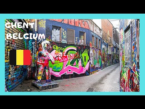 BELGIUM, the famous GRAFFITI STREET in the historic city of GHENT (GENT)