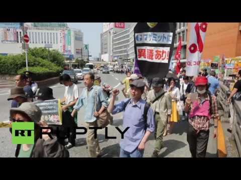Japan: Tokyo protesters decry upcoming G7 Summit, Obama Hiroshima visit