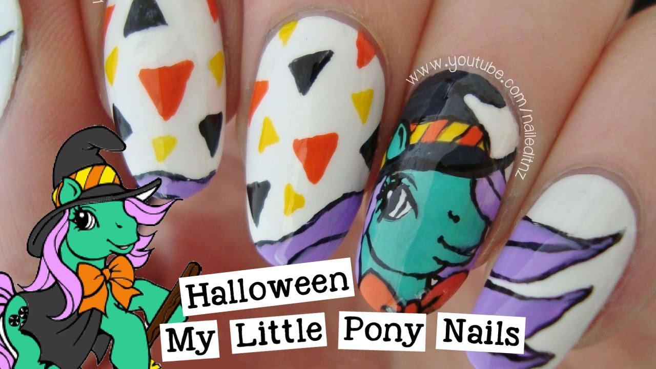 My Little Pony Halloween Nail Art Nailed It Nz Youtube