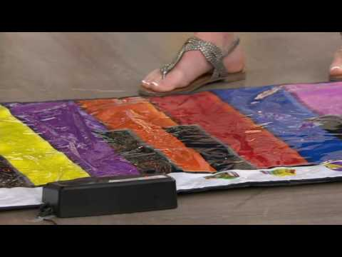 HearthSong Giant Colorful Musical Note Keyboard Mat on QVC