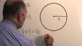 How to calculate tнe area of a circle