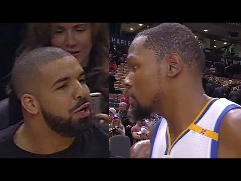 Kevin Durant Threatens Drake With Death Stare After Drake Bumps Him