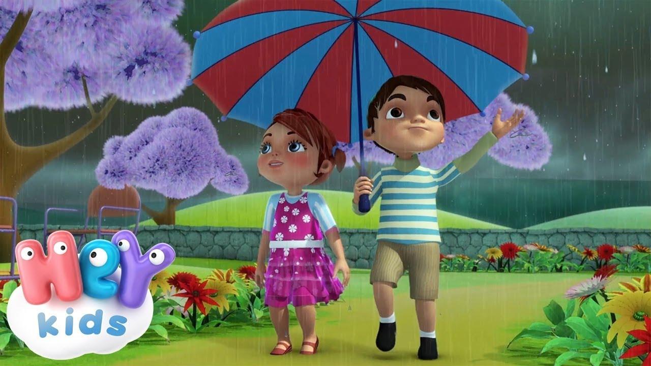 Pioggia canzoni per bambini cartoni animati