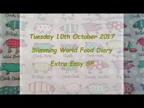 Day 10 #Vlogtober #Onplanoctober Slimming World SP Food Diary Tuesday 10th October 2017