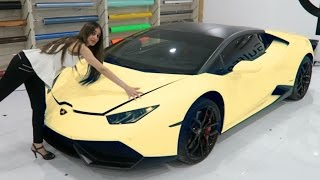 WRAPPING OUR LAMBORGHINI !