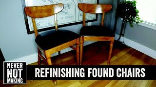Refinishing a Pair of Mid Century Chairs