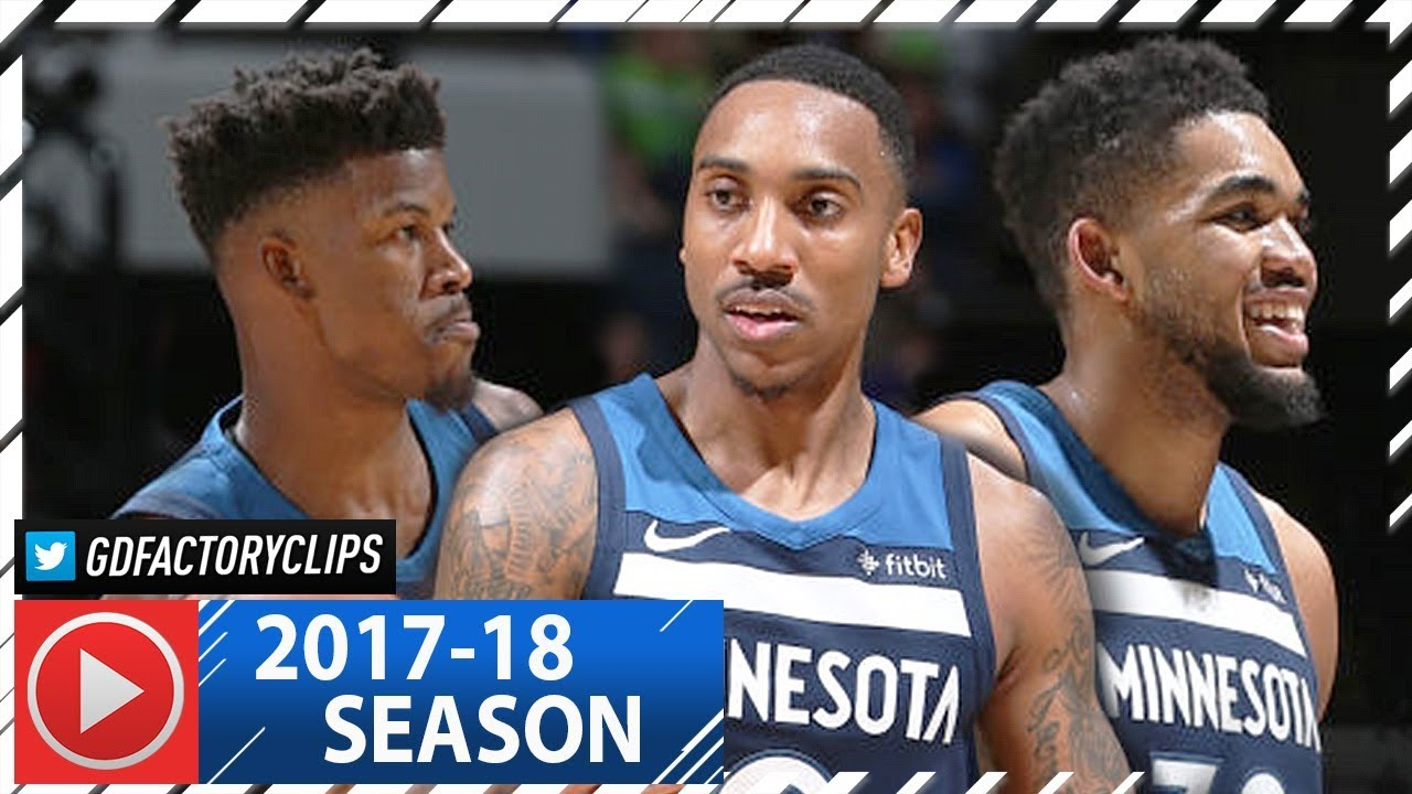 jimmy-butler-jeff-teague-karl-anthony-towns-full-highlights-vs-blazers-2018-01-14-sick