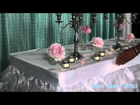 Fancy Table Skirts Youtube