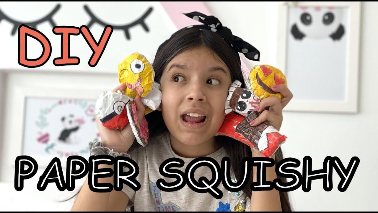 COMO FAZER PAPER SQUISHY #APRENDACOMIGO #FIQUEEMCASA DIY PAPER SQUISHY