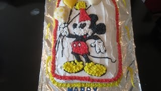 Mickey Mouse piping gel cake