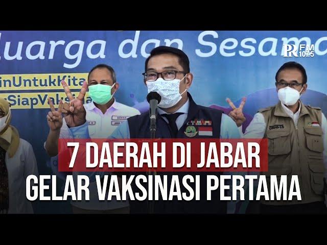 Gubernur Jawa Barat Ridwan Kamil Sebut 7 Daerah Ini Mulai Lakukan Suntik Vaksin Besok dan Jumat