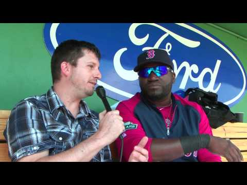"""Gentry Thomas interview with """"Big Papi"""" aka David Ortiz of the Boston Red Sox 2012"""