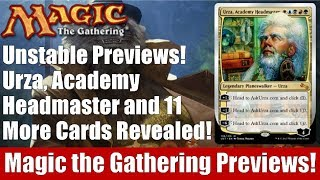 MTG Unstable Previews! Urza, Academy Headmaster and 11 More Cards Revealed!