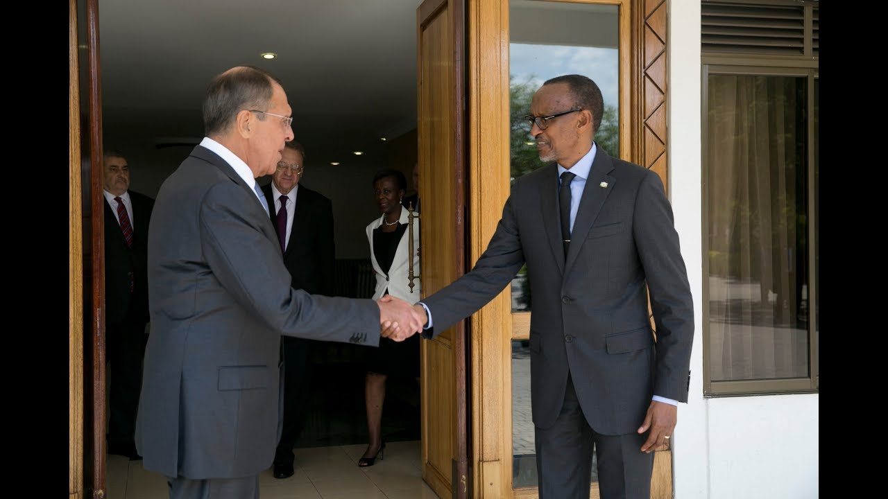 President Kagame meets with Russian Minister of Foreign Affairs Sergey Lavrov