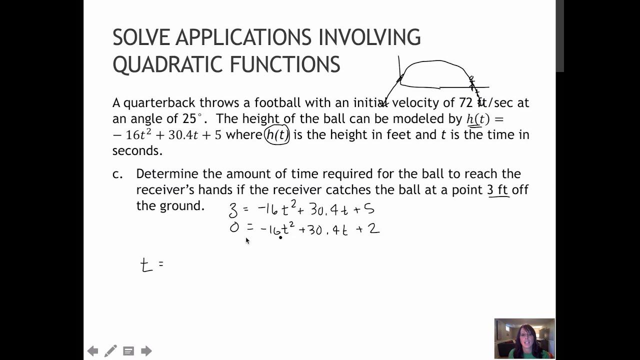68 Solve Applications Involving Quadratic Functions 3 1