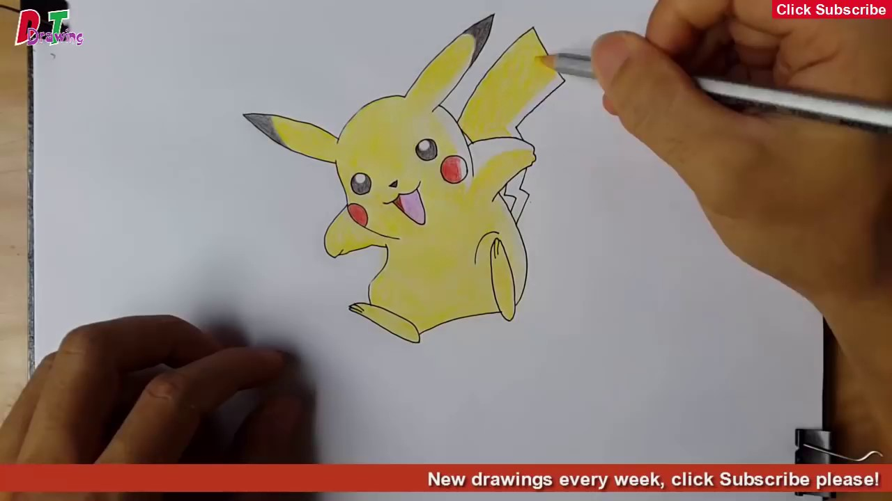 How To Draw Surprising 3d Pokemon With Color Pencil Youtube