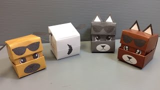 Origami Changing Faces Dog Cube - Print At Home