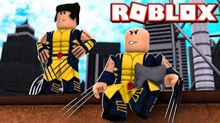 ROBLOX 2 PLAYER SUPERHERO TYCOON / WOLVERINE HUGE UPDATE!!!