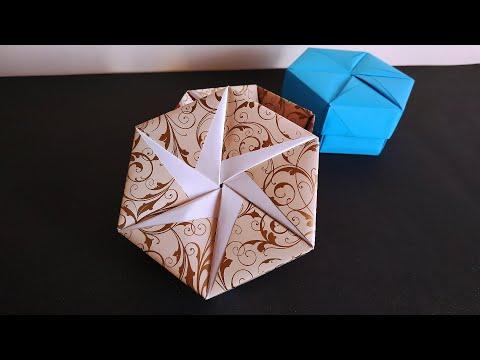 Easy Origami Box : วิธีพับกล่องมีฝาปิด โอริกามิ - YouTube | 360x480