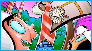 Golf With Friends Funny Moments! - Candyland Basketball Rage!! (Evil Donut Man!)