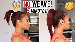 How to Get LONG HAIR in 5 min WITHOUT weave! hair hacks