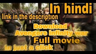 Download LATEST MOVIE AVENGERS INFINITY WAR 2018 1080p full hd in hindi for just 800 mb