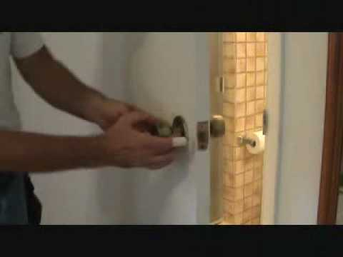 Removing A Privacy Handle Door Quot Knob Quot Youtube