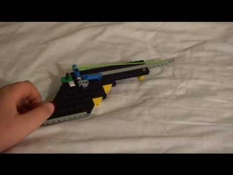 How To Make A Lego Rubber Band Gun Youtube