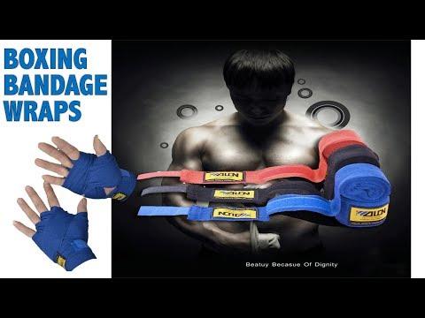 Cotton Sports Strap Boxing Bandage Sanda Muay Thai MMA Taekwondo Hand Gloves Wraps UNBOXING