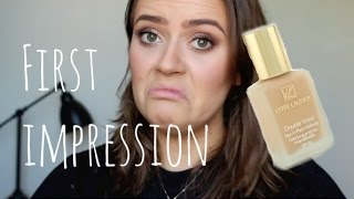 One of Emmas Rectangle's most viewed videos: Estee Lauder double wear foundation first impression review | EmmasRectangle